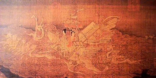 "Pittura cinese - ""Ninfe del fiume"" di Gu Kaizhi"