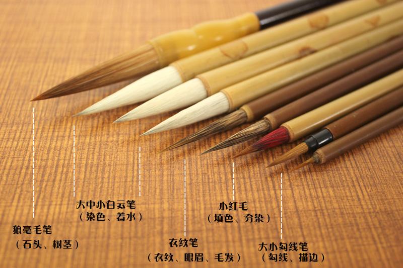 Pittura cinese:- Pennelli cinesi