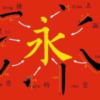 tratti negli otto principi di yong