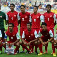 La nazionale di calcio di Tahiti nel 2013