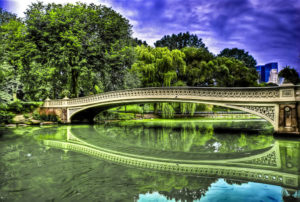 Bow Bridge in Central Park Manhattan