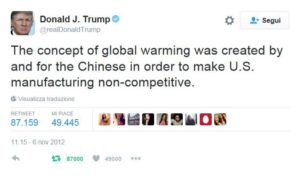 cambiamenti climatici - trump cinesi