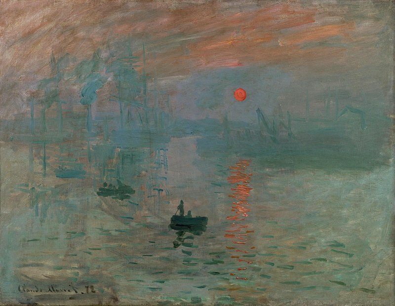 simbolo del sole - Impressione, levar del sole - Claude Monet, 1872