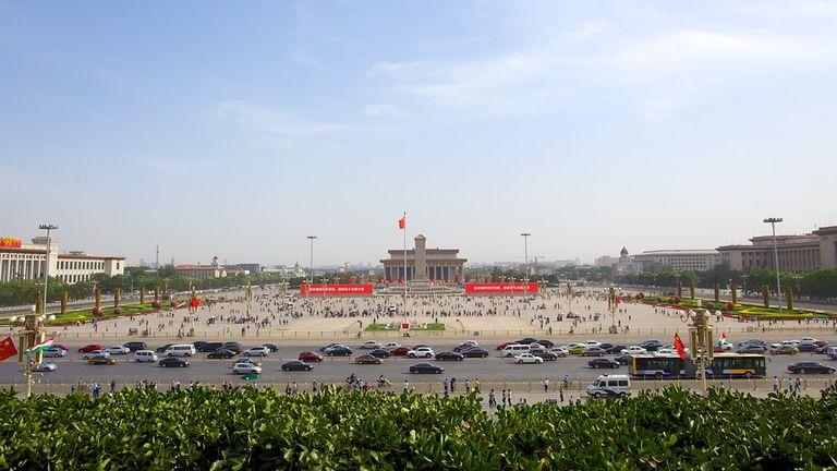 Piazza Tienanmen panoramica - luoghi