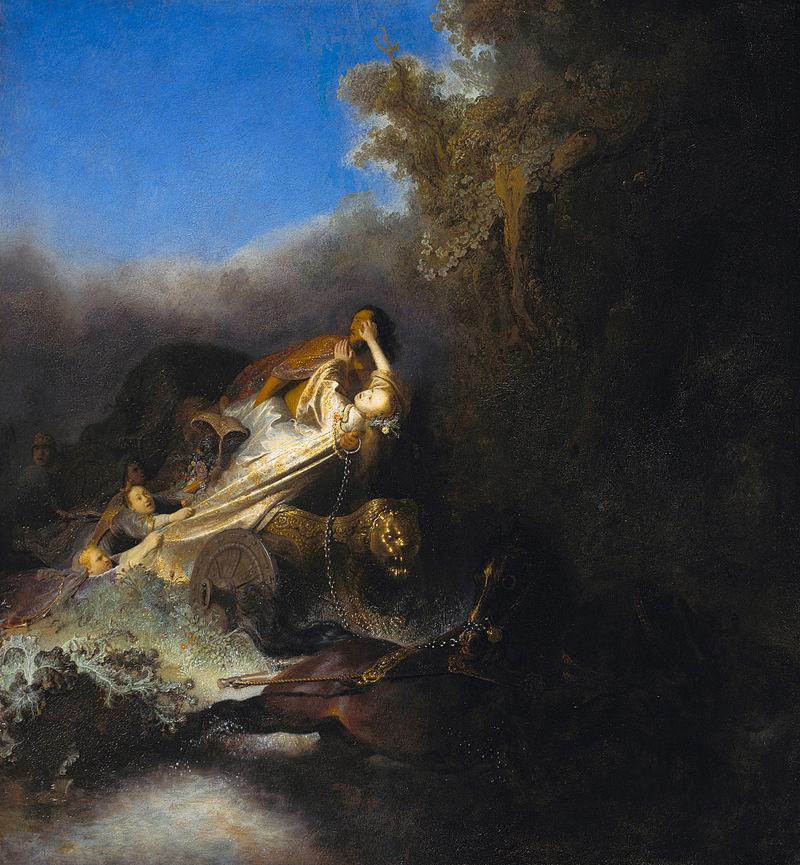 il ratto di proserpina Rembrandt