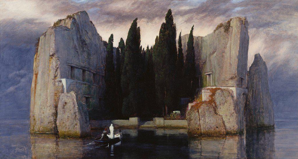 L'isola dei morti di Arnold Bocklin, 1883 (Alte Nationalgalerie, Berlino)