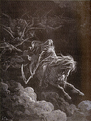 La morte sul cavallo bianco, Gustave Doré