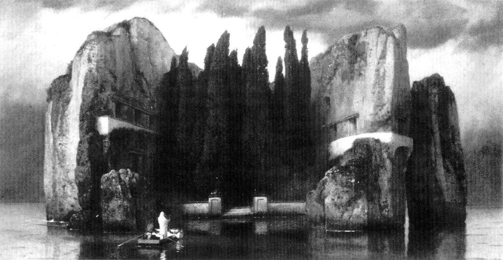"""ALT=""""Arnold Bocklin Isola dei morti"""""""