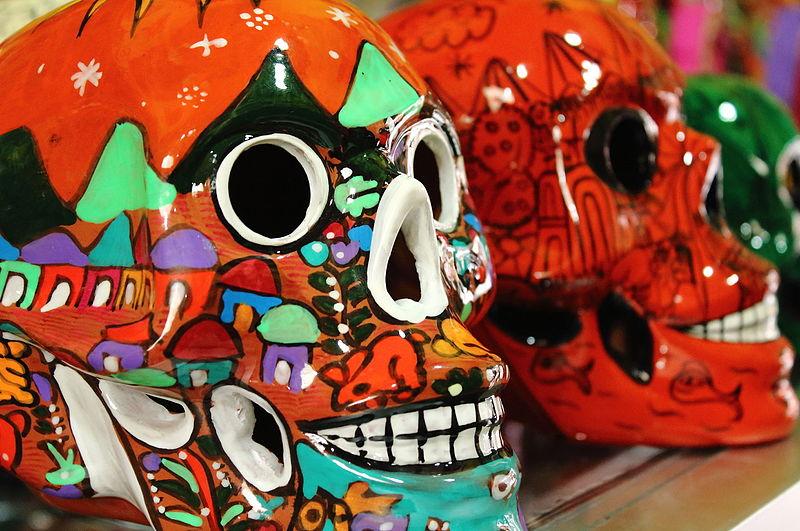 morte teschi decorati