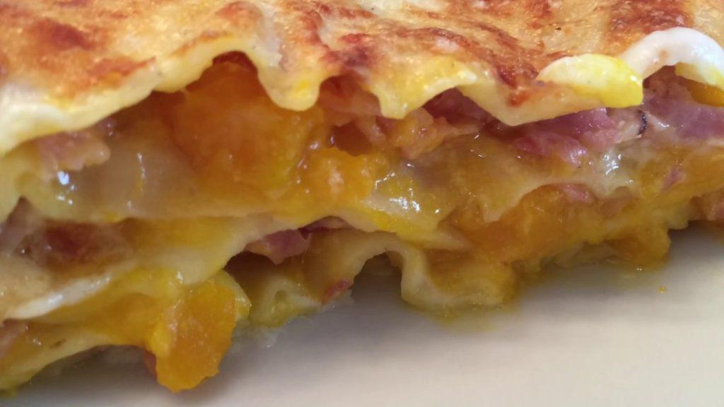Lasagne zucca e speck